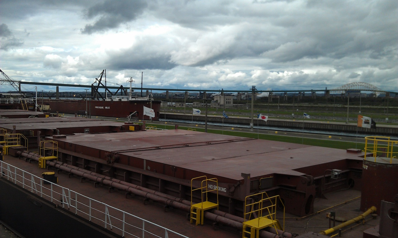 Ships Entering Locks From Both Directions