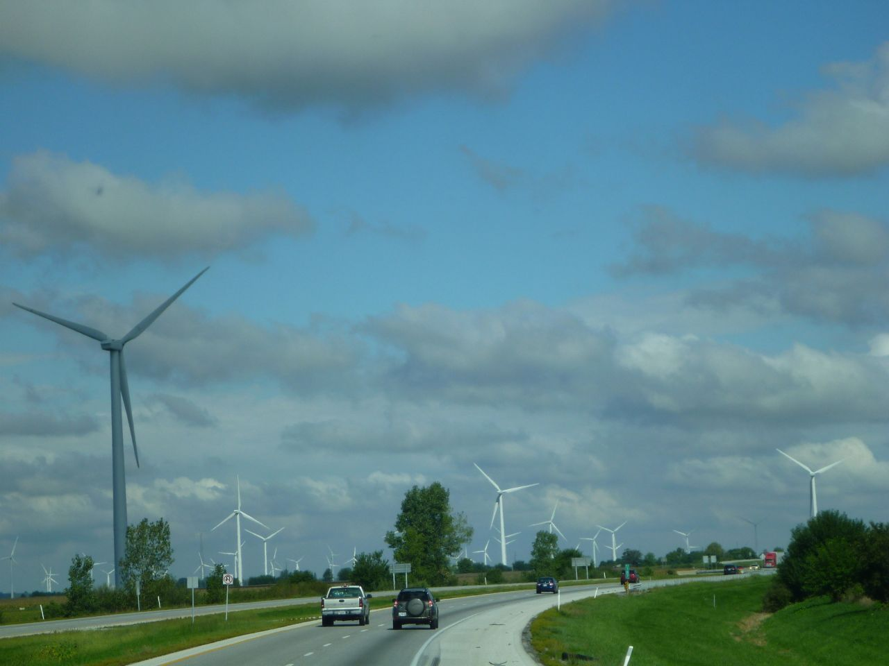 Windmills As Far As The Eye Can See In Indiana