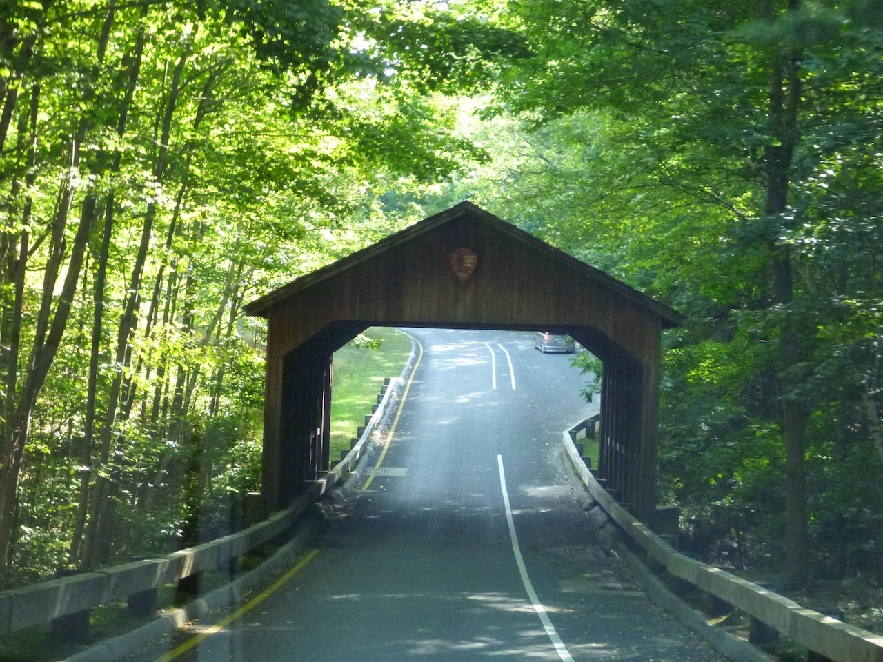 The Covered Bridge In The Pierce Stocking Scenic Drive