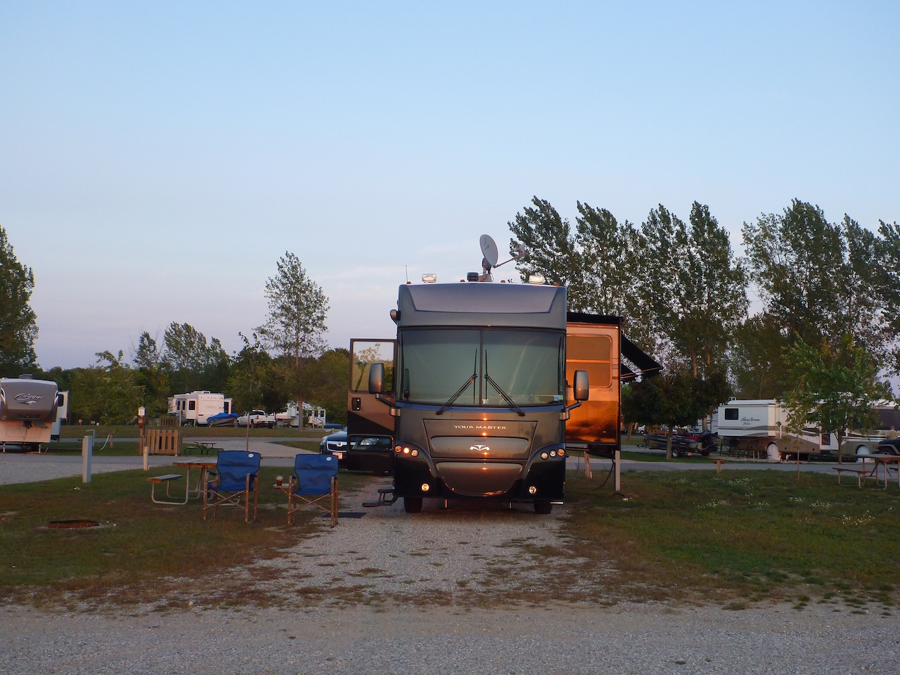 Our Site In The Holiday Park Campground In Traverse City, MI