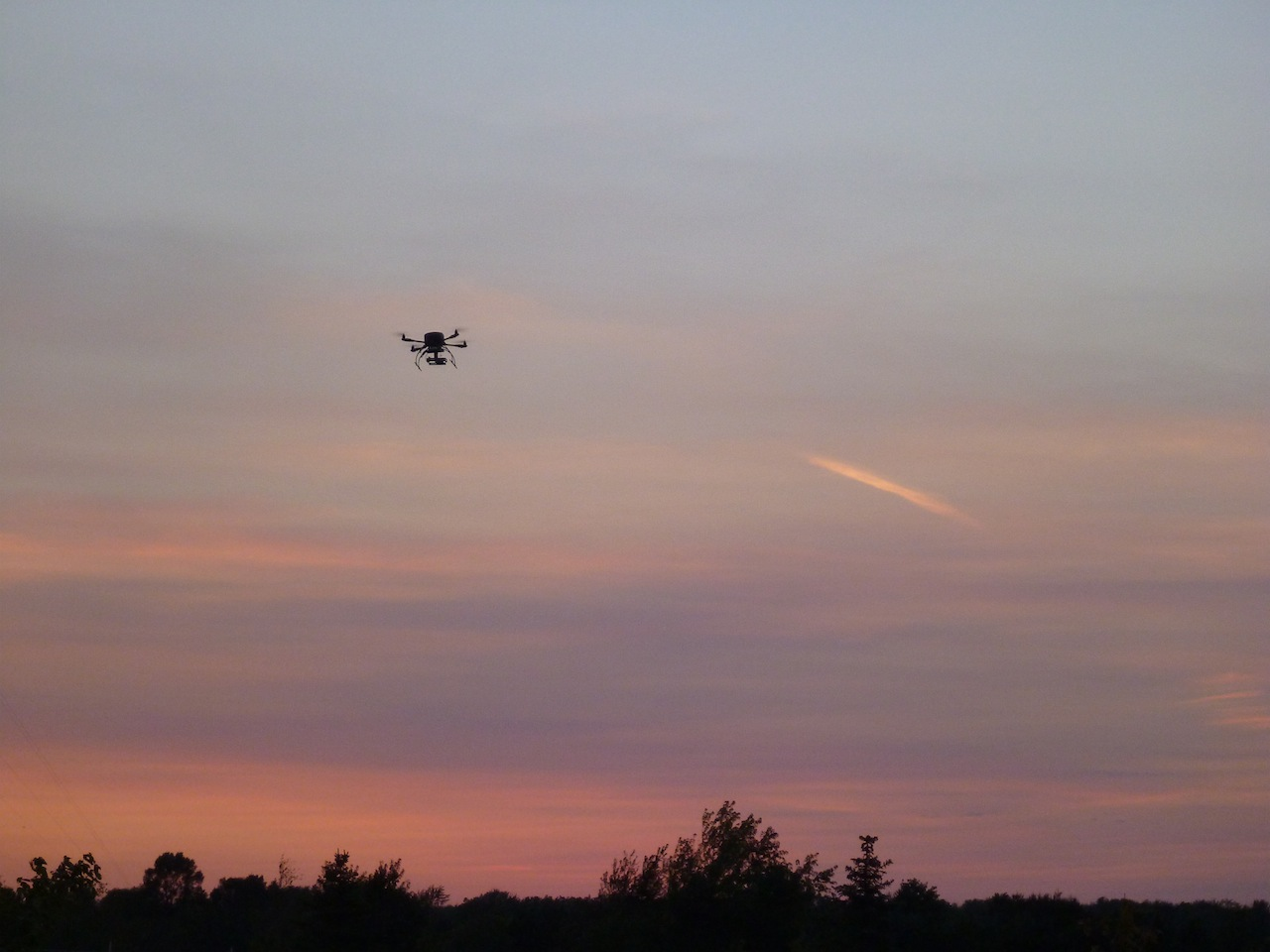 David's Quadcopter During Sunset