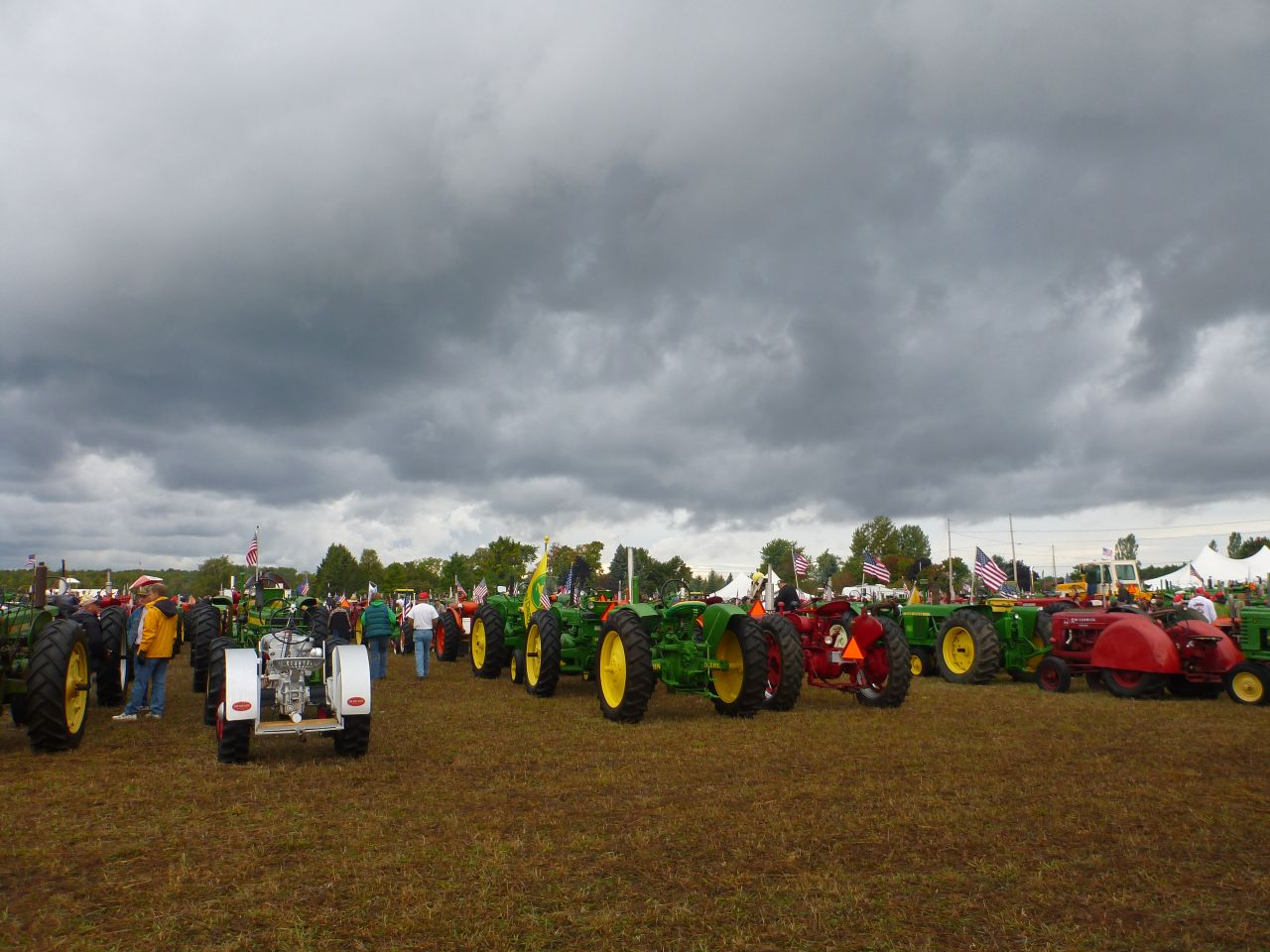 Tractors Before The Crossing.