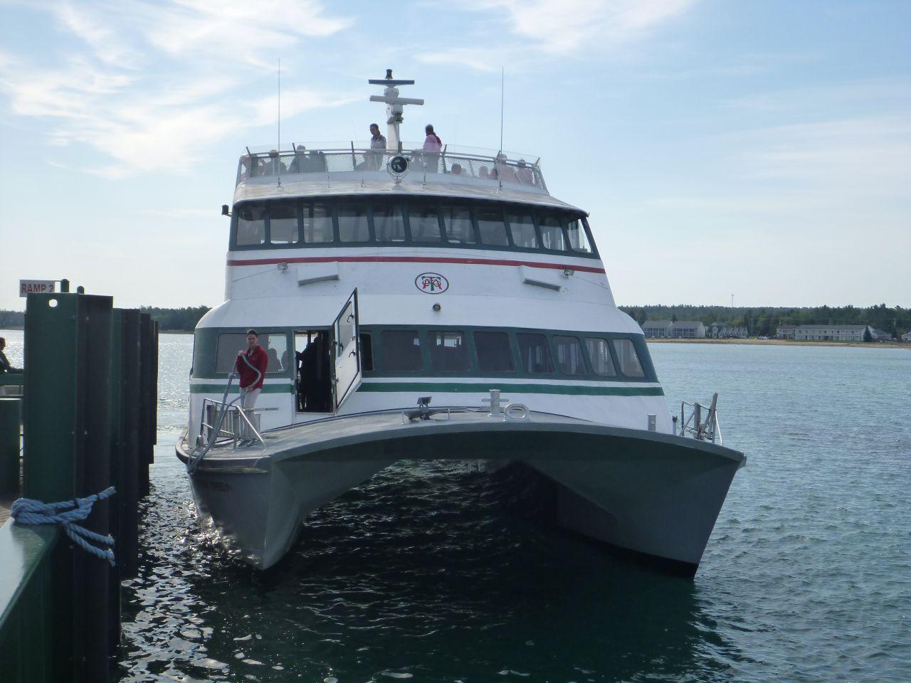 The Catamaran Ferry That We Took To Mackinac Island