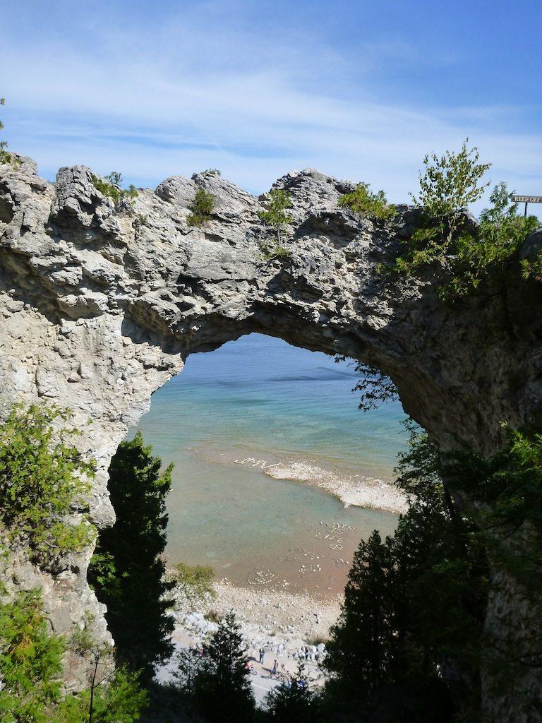 Arch Rock On Mackinac Island