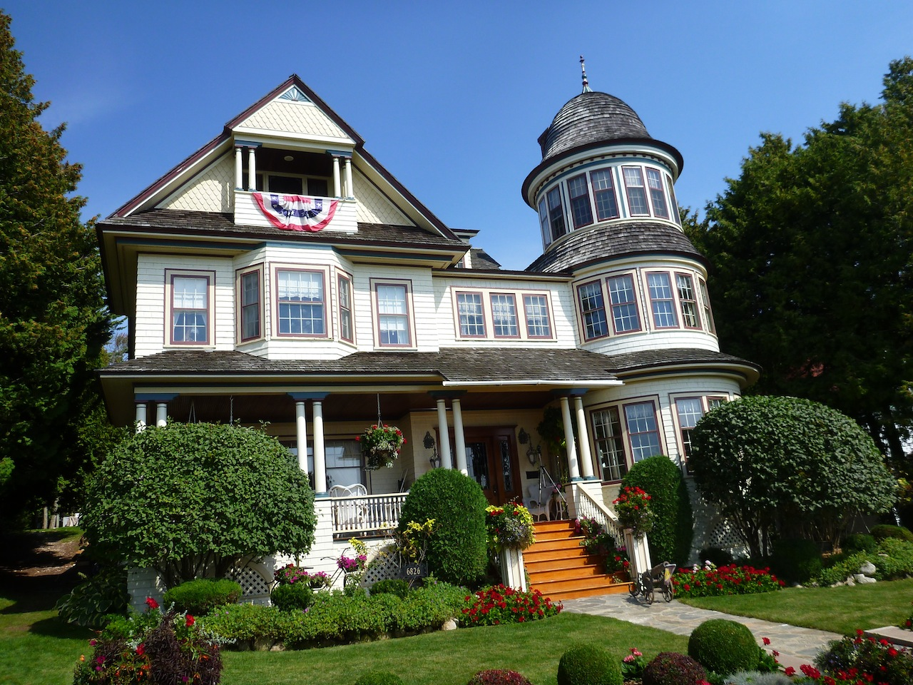 One Of The Victorian Houses On The Island