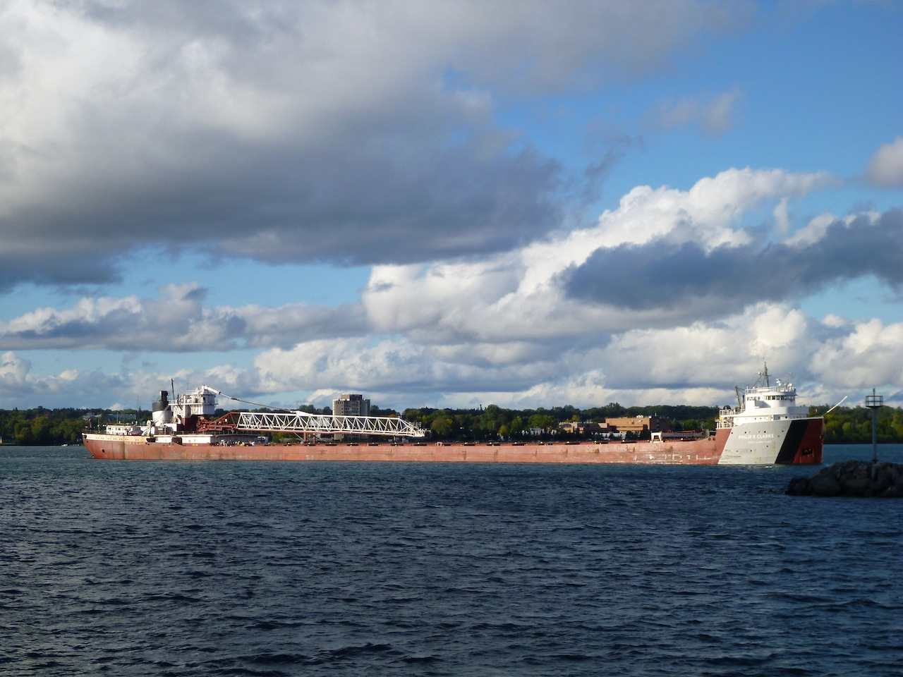 A Freighter Going By