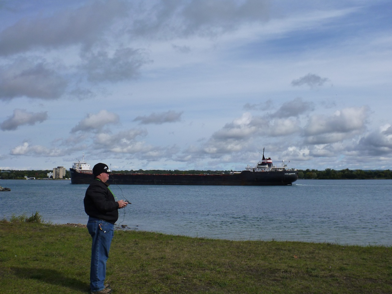 David Flying The Quadcopter Around The Ships