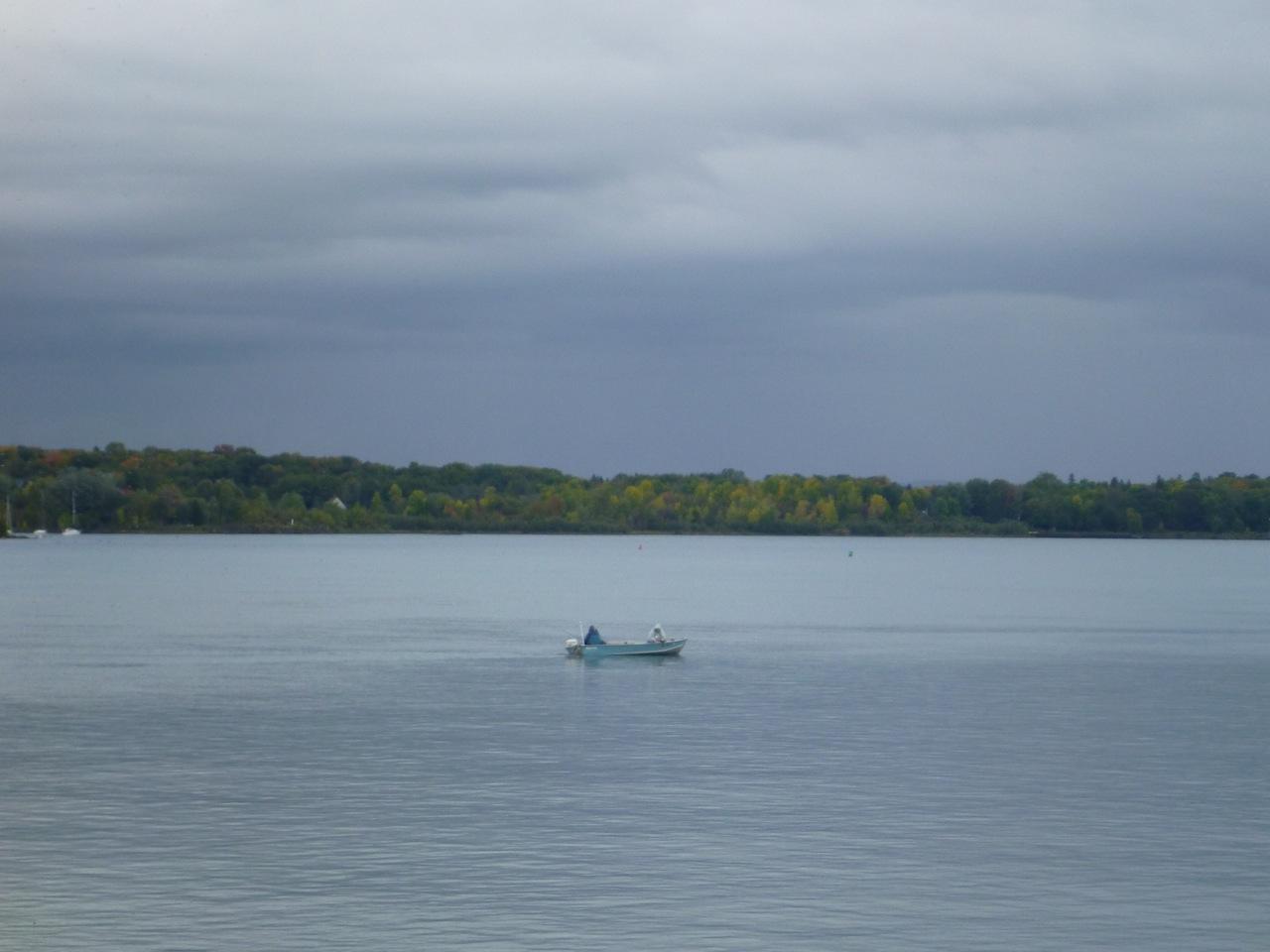 A Fisherman On The Waterway Off Sault Ste Marie, MI