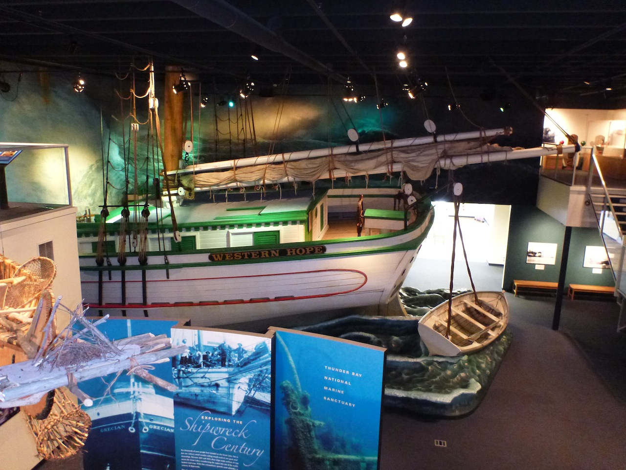 Inside The Thunder Bay National Marine Sanctuary Museum