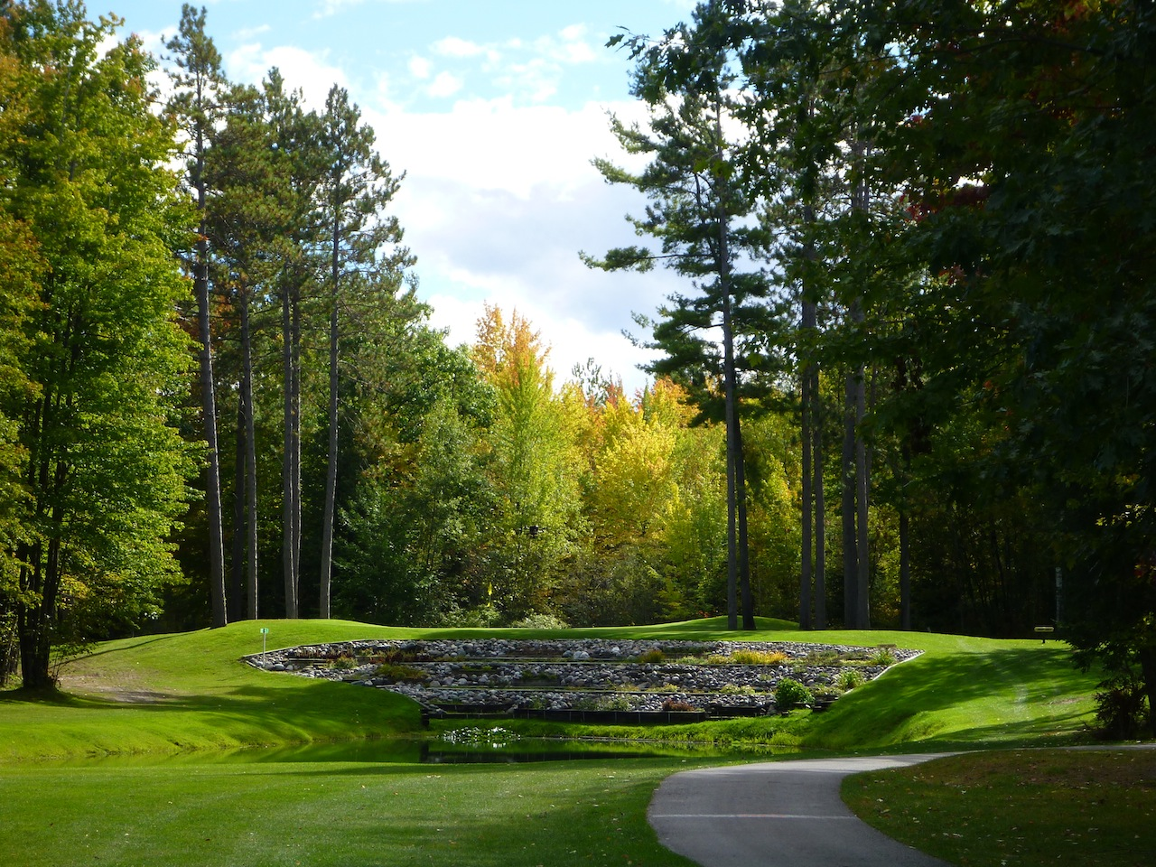 A Beautiful Hole On The Golf Course At Thunder Bay Resort