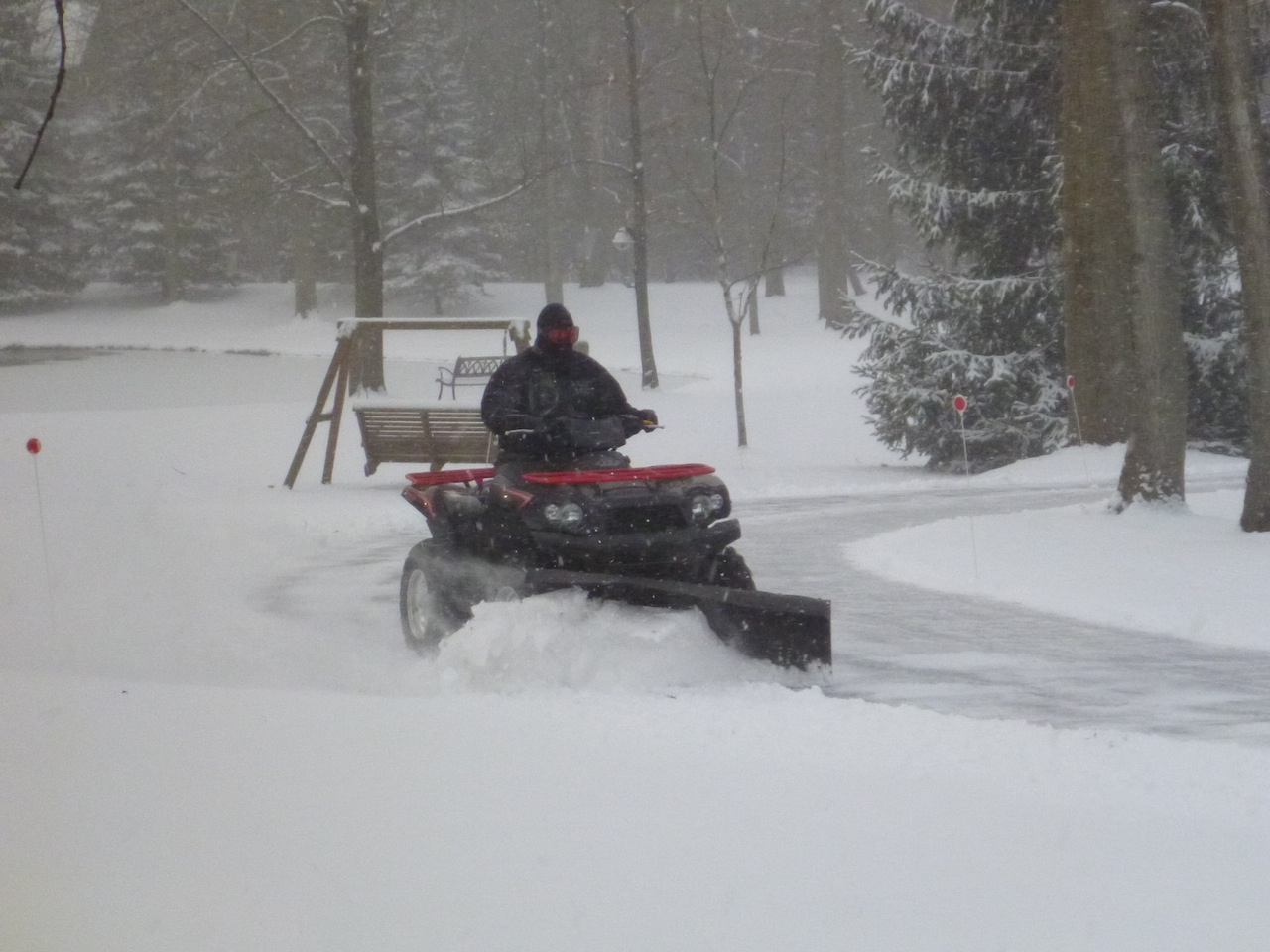 David Plowing Our Driveway