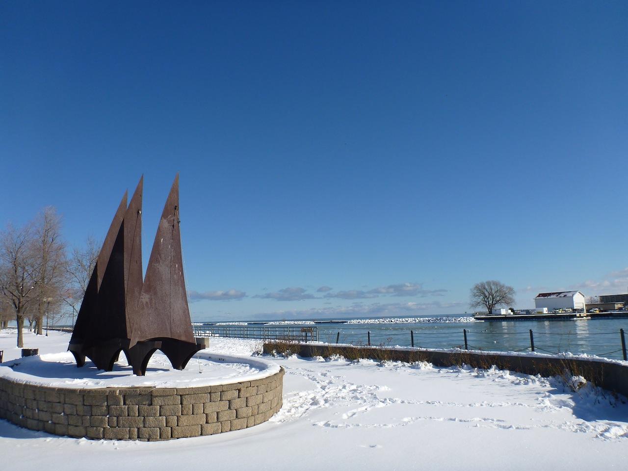A Nice Sculpture At Charlotte Beach Park, NY