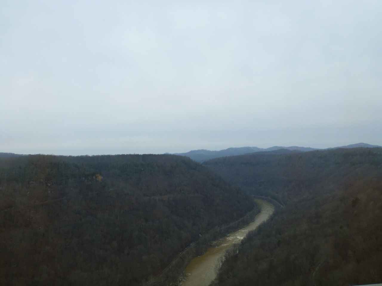 The View From The Longest Arch Bridge In The Western Hemisphere.