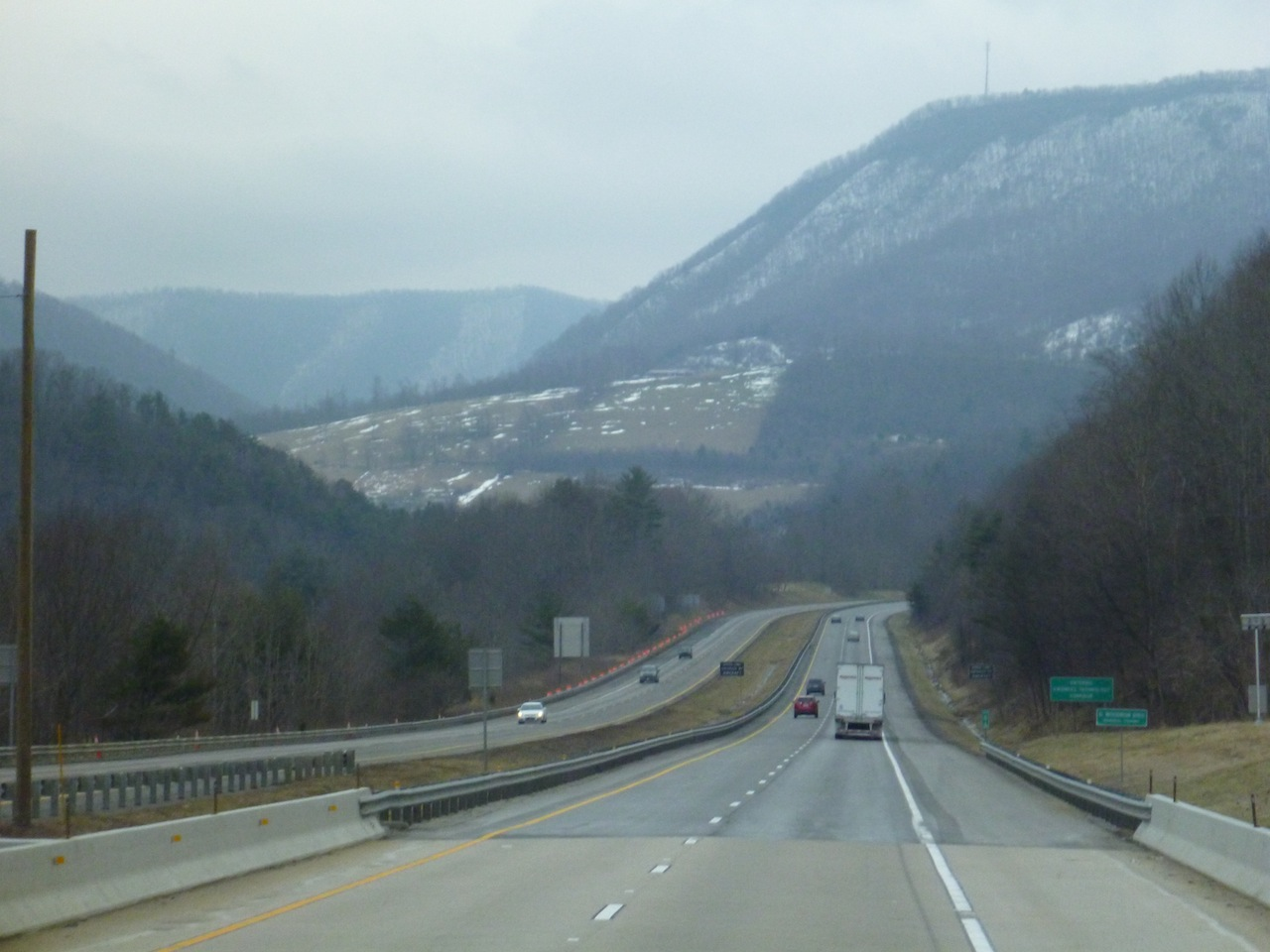 Driving South Through The Hills Of West Virginia