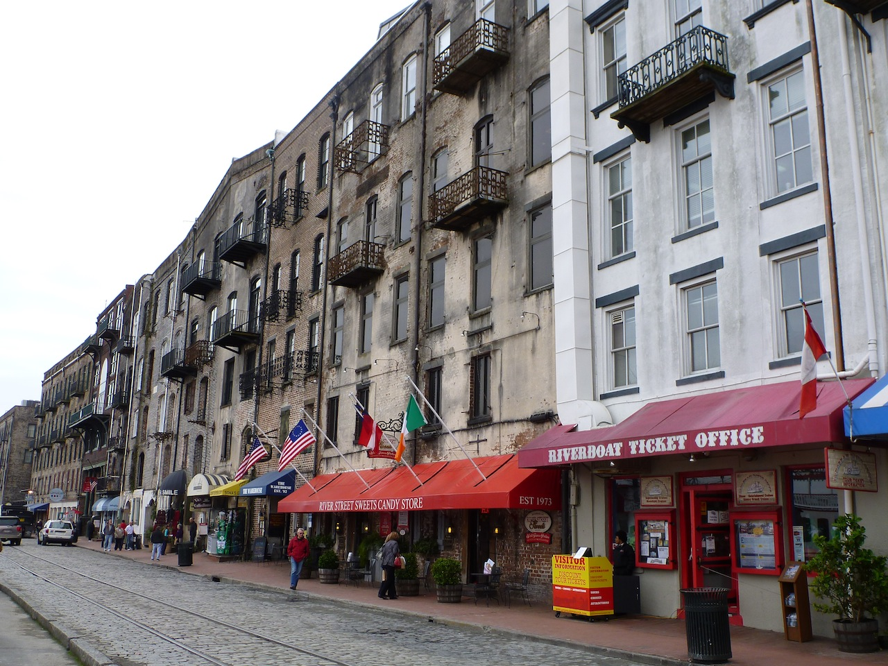 River Street In The Historic District Of Savannah, GA