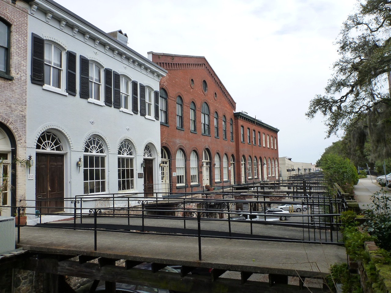 The Back Of The Buildings On River Street