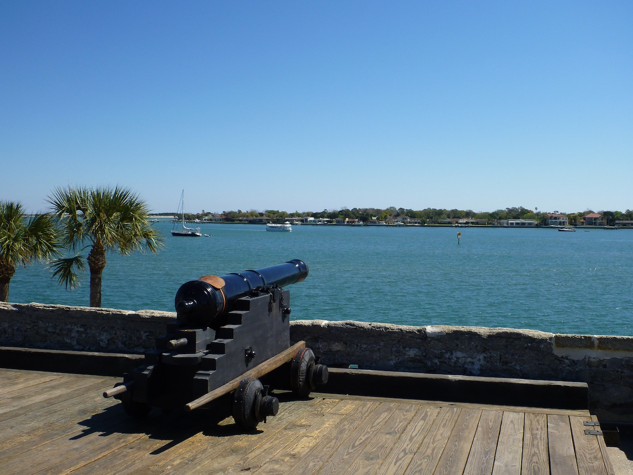 A Cannon Overlooking The Inlet