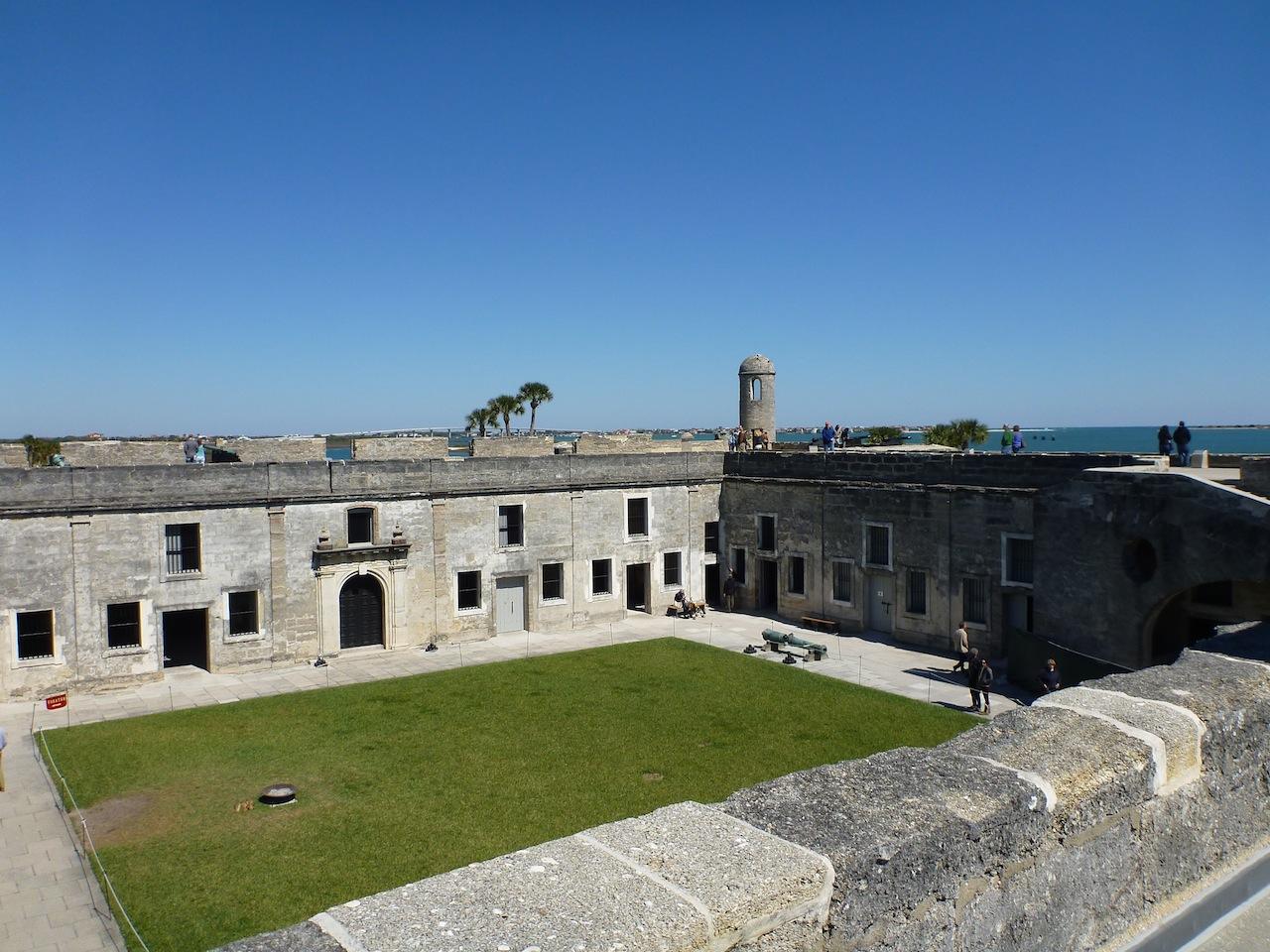 The Center Courtyard Of Castillo de San Marcos In St. Augustine