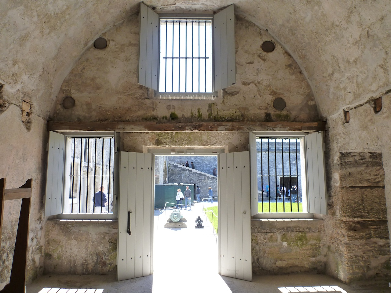 A Room In The Castillo de San Marcos, Looking Out Into The Courtyard