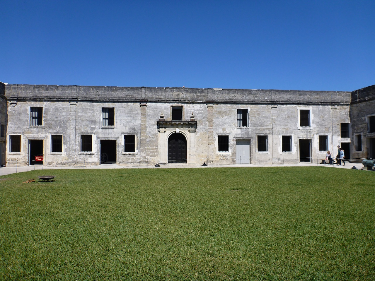 One Of The Walls Of The Castillo de San Marcos.  In The Foreground Is Some Of The Courtyard.
