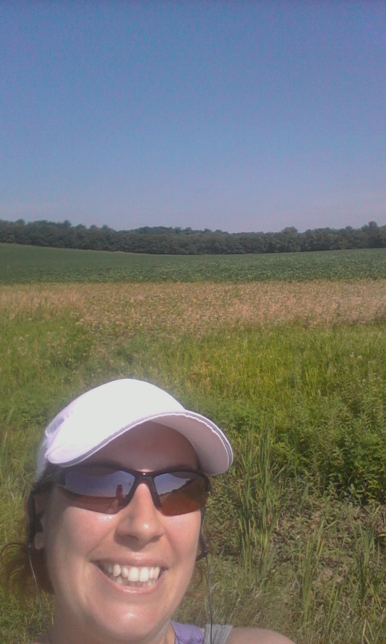 Brenda On A Nice Walking Path Around The Corn Fields