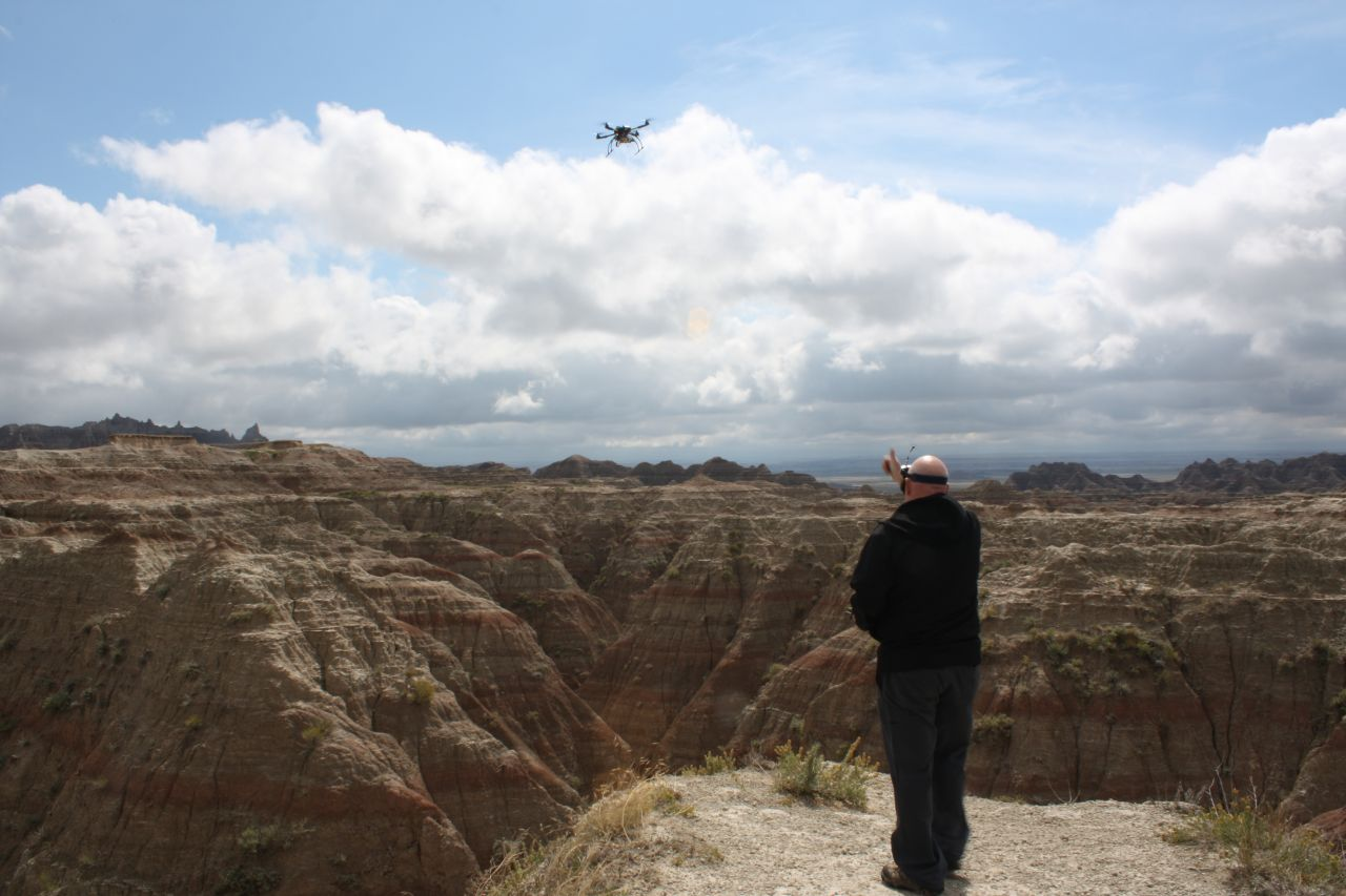 David Giving A Thumbs Up To The Video He Is Shooting In The Badlands