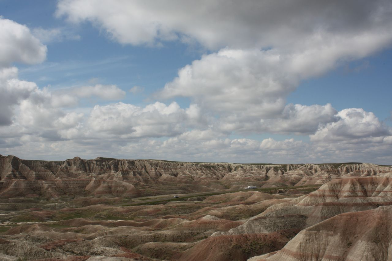 The Badlands National Park In South Dakota