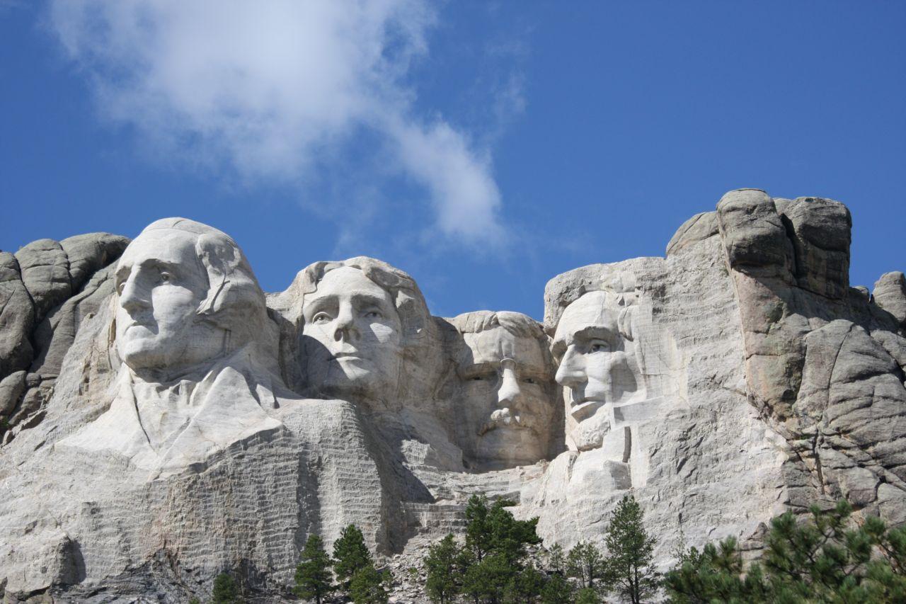 Mt. Rushmore National Memorial In South Dakota