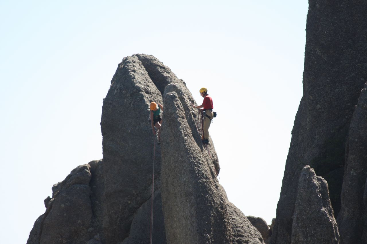Rock Climbers On Needles Highway