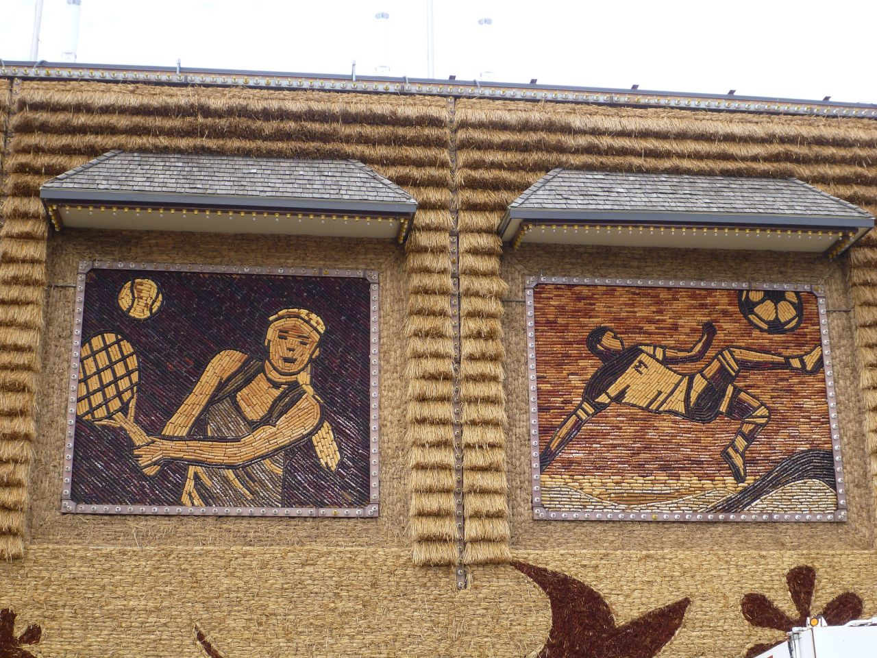 Some Of The Murals That Adorn The Outside Of The Corn Palace