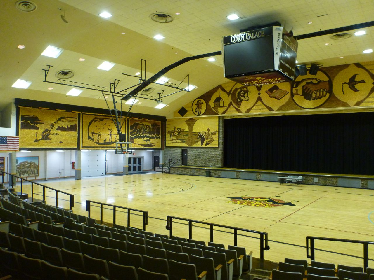 The Inside Of The Corn Palace Is Decorated Too.
