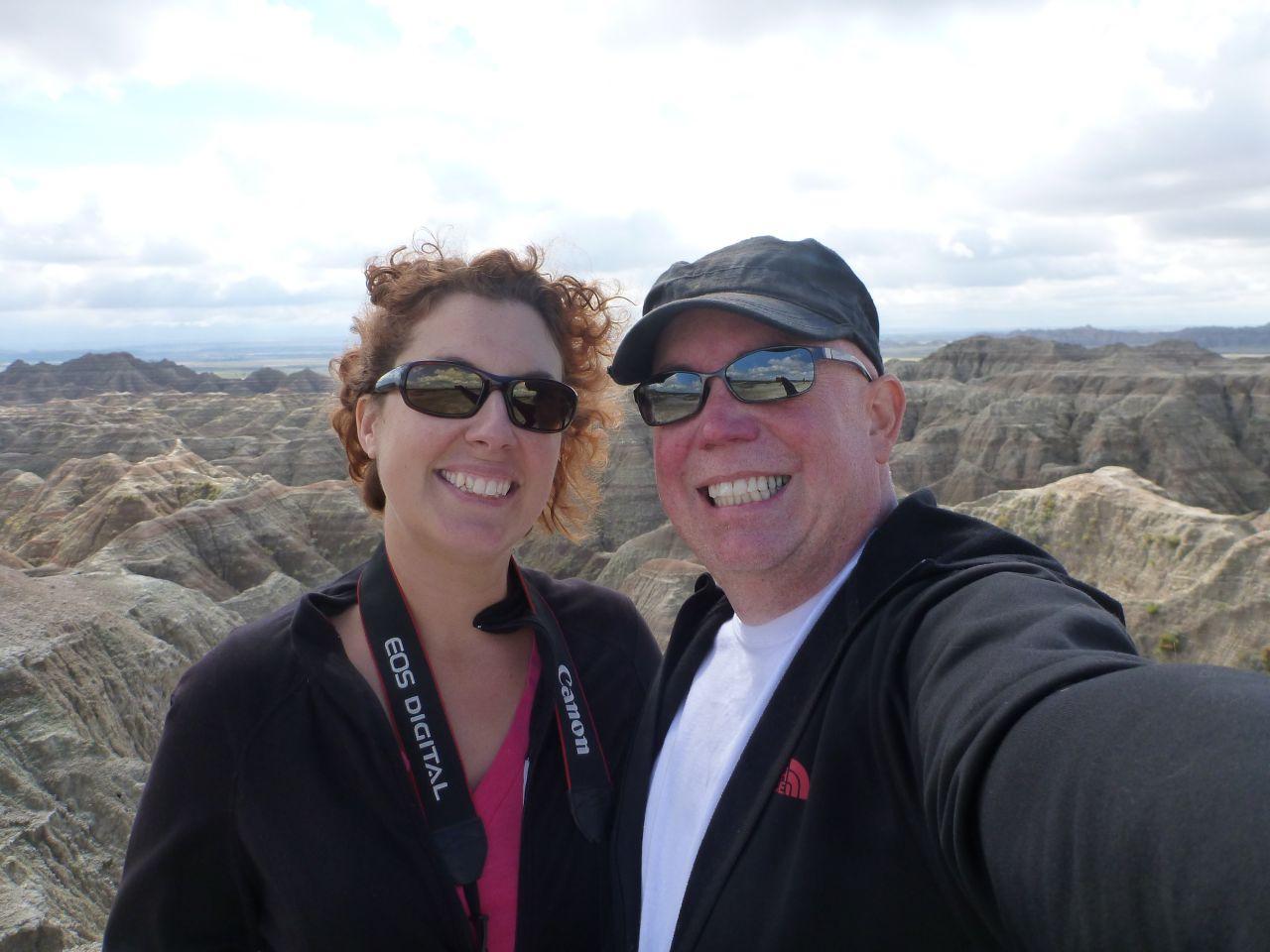 David and Brenda At The Badlands In South Dakota