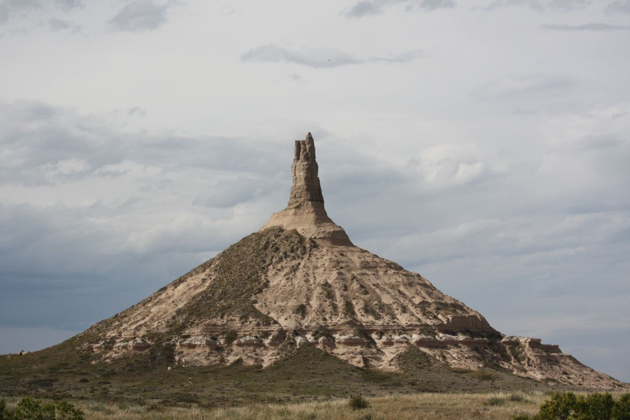 Chimney Rock National Monument In Nebraska