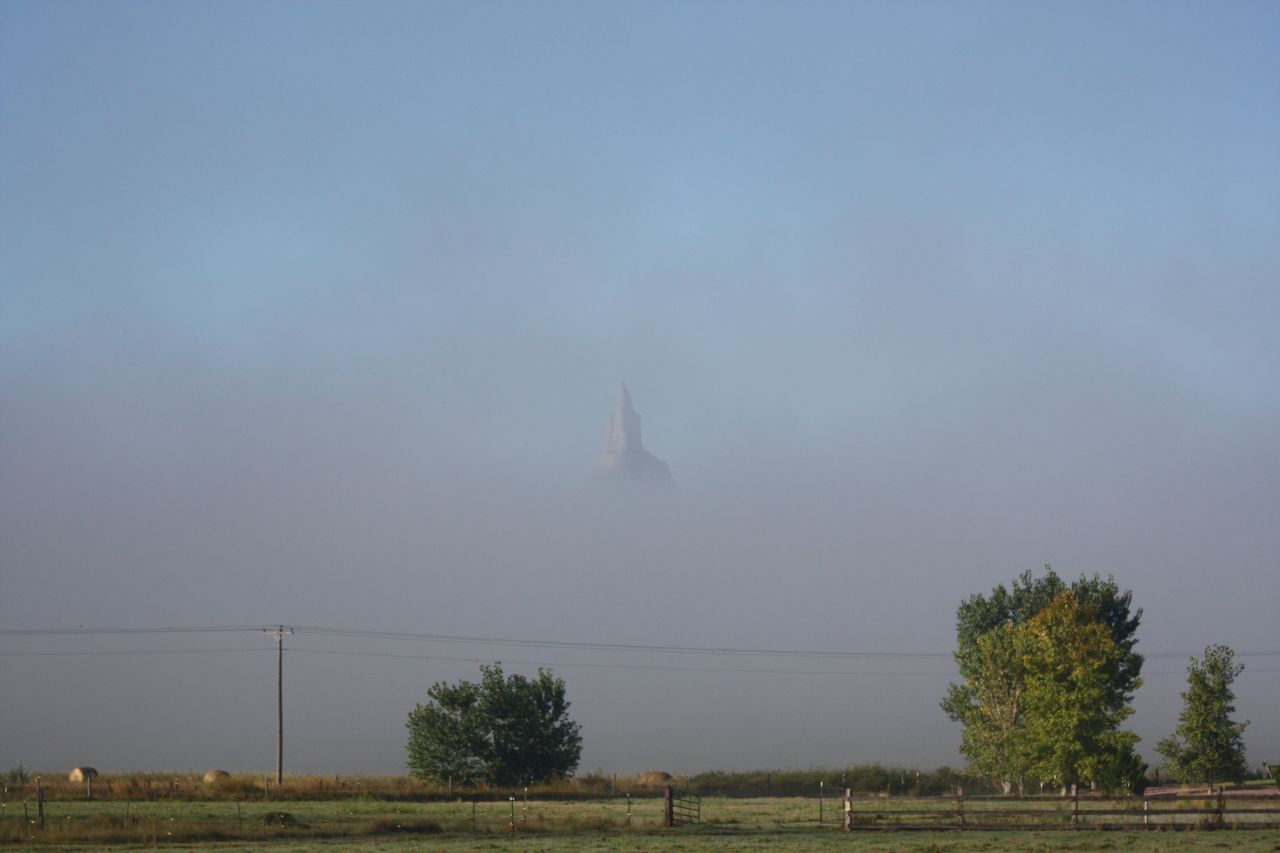 Chimney Rock In The Fog