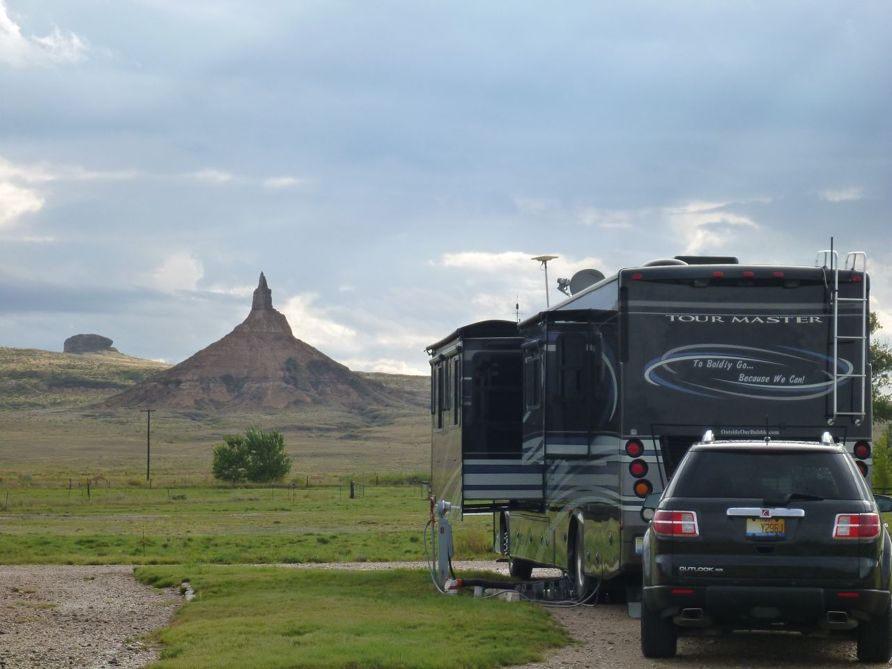 Our Site Facing Chimney Rock