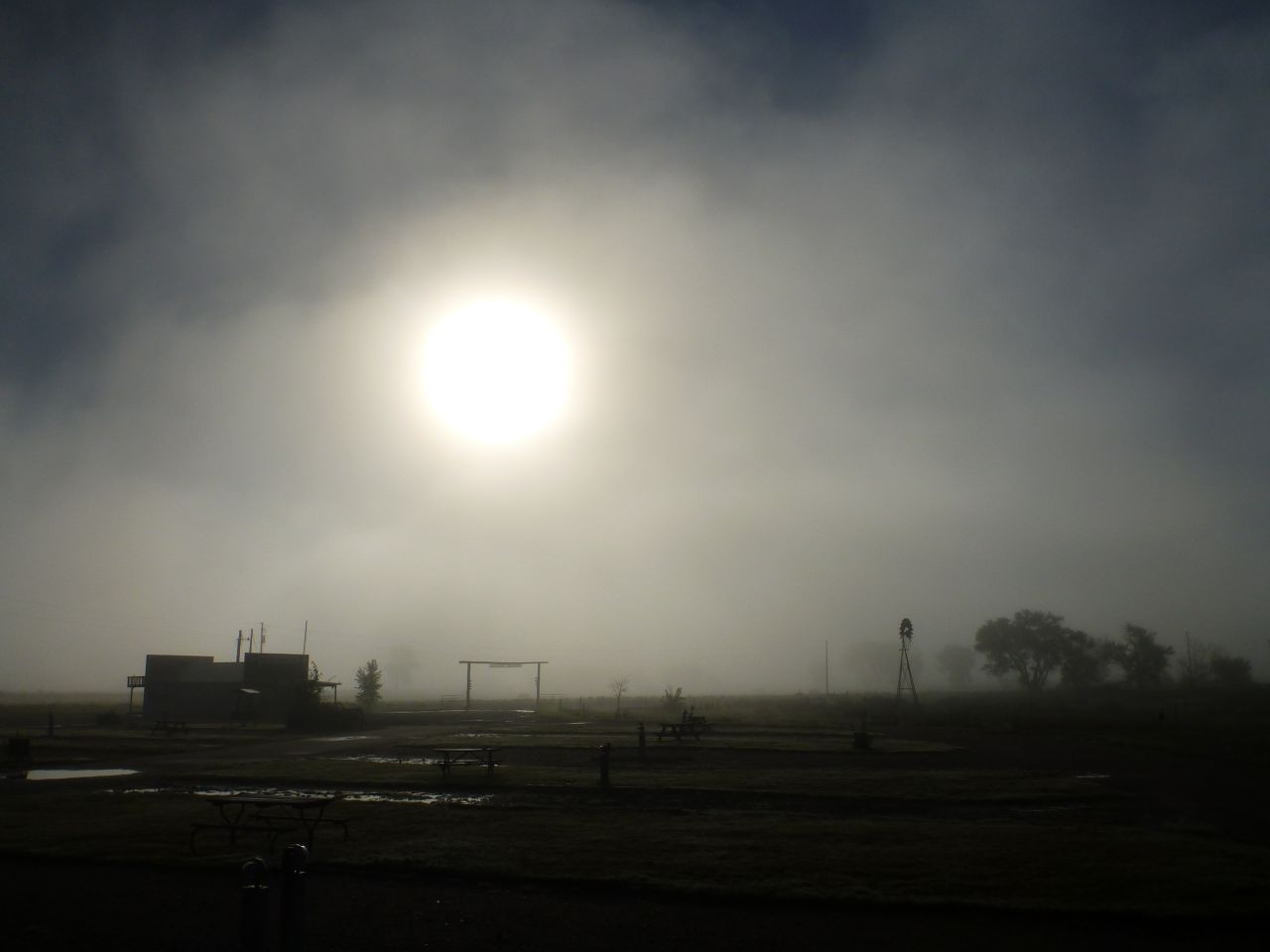 The Sun Trying To Come Out In the Fog