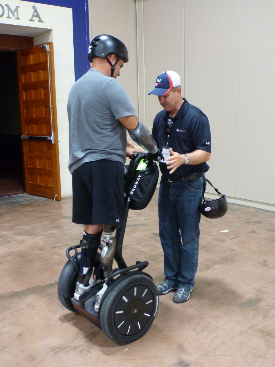 A Wounded Warrior Learning To Use The Segway