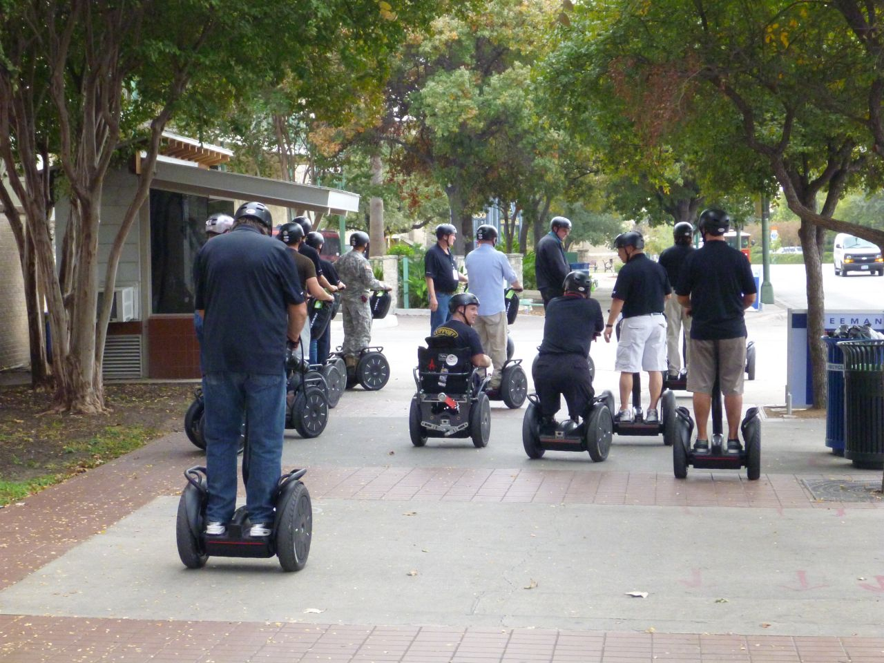 Our Soldiers Going Out On The Segways To Learn How To Use Them In Everyday Life