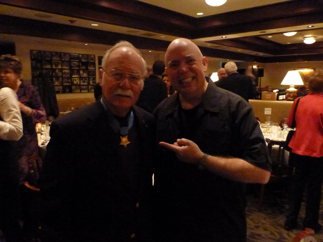 "David And Medal of Honor Recipient Colonel H. C. ""Barney"" Barnum, USMC (Ret)"
