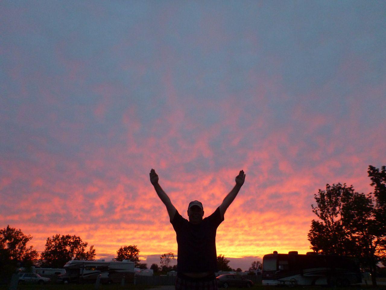 Enjoying The Sunset In Indiana
