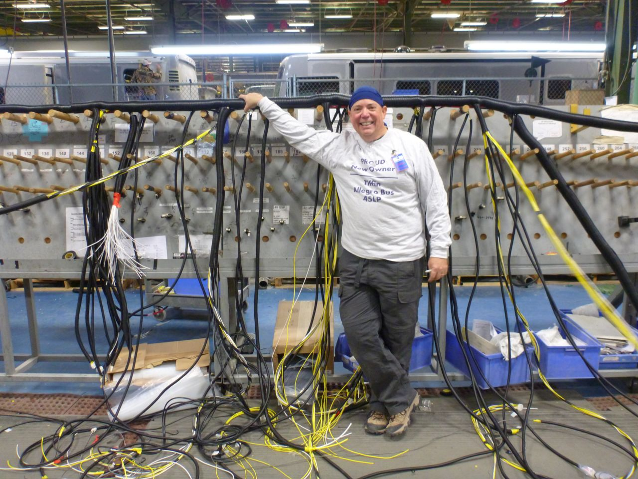 David At The End Of Our Wiring Day