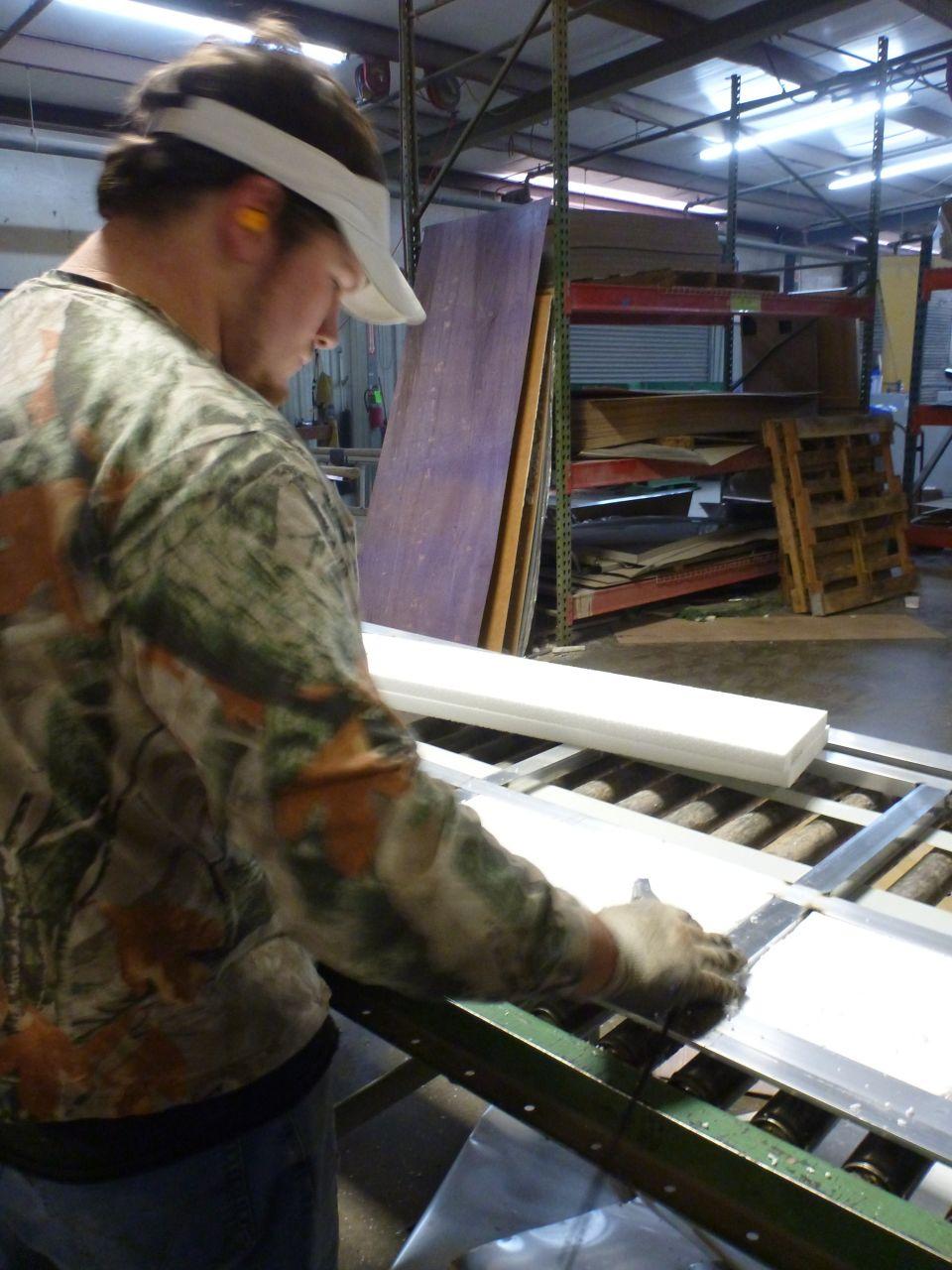 Inserting Foam Insulation