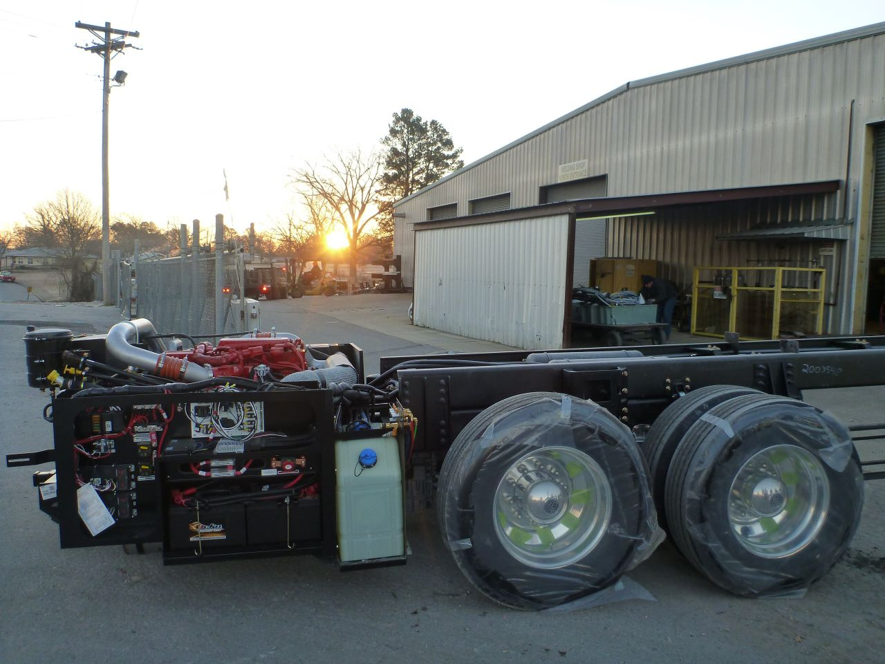 Sun Rises On Our Chassis