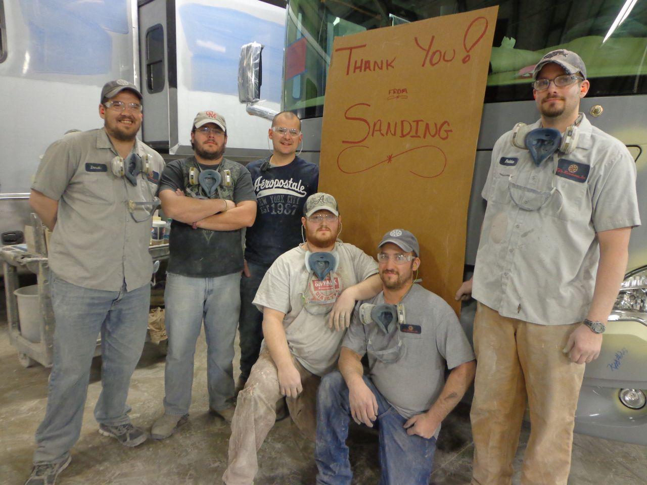 The Sanding Team