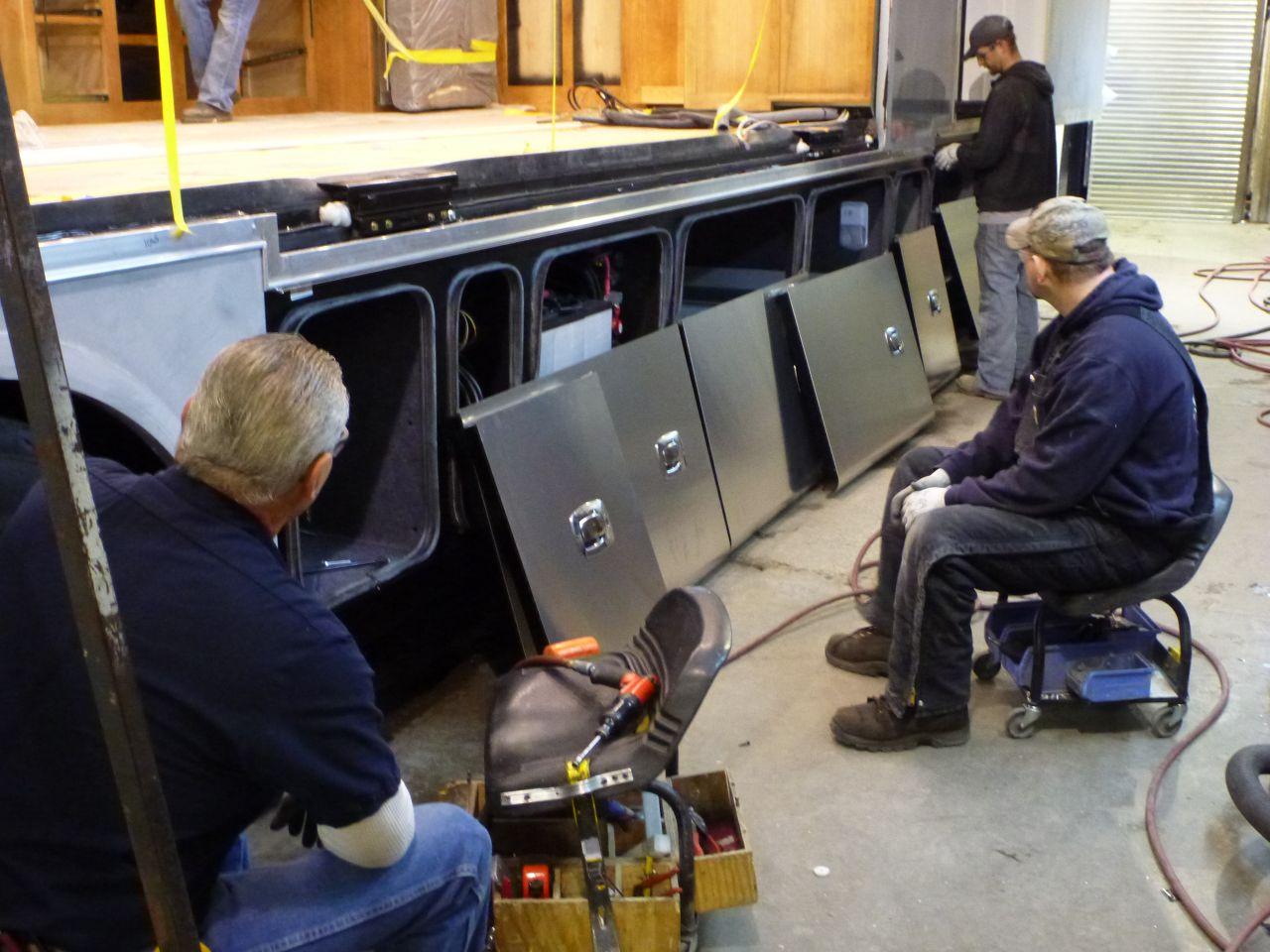 Basement Doors Being Installed