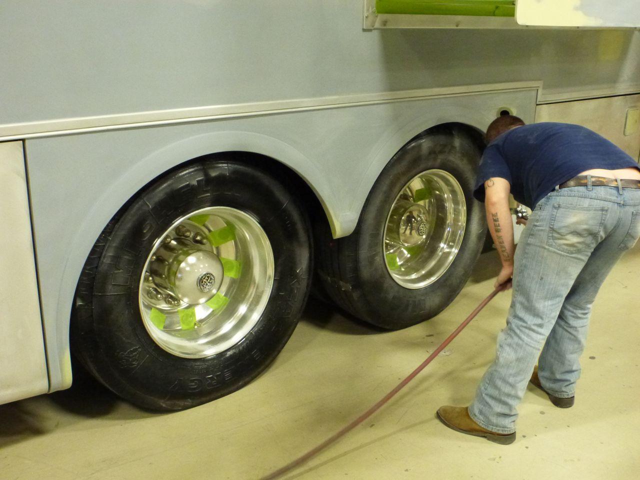 Spraying Slime On Wheels
