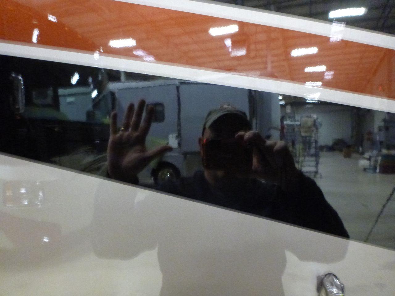David Enjoying The Glassy Finish