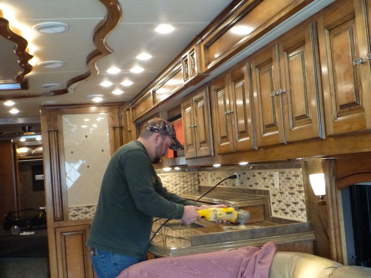 Buffing Of Counter tops