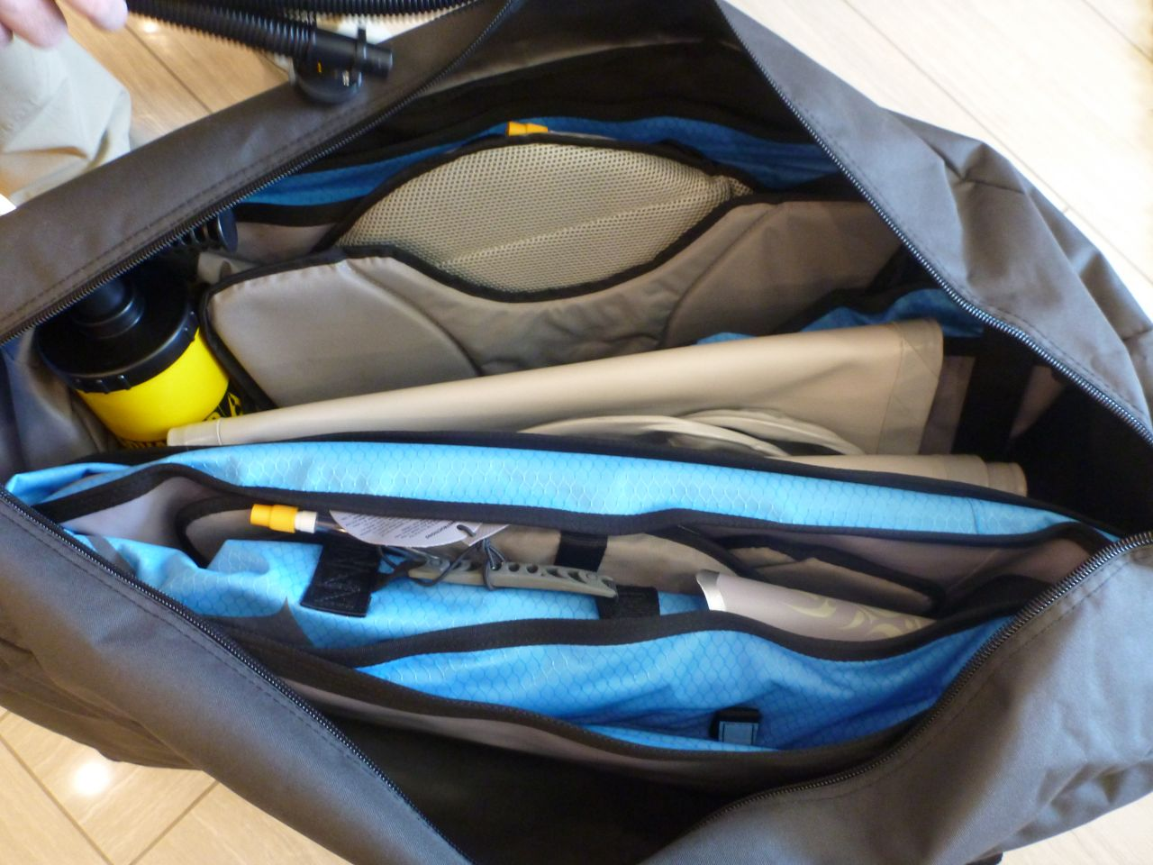 Kayak Neatly Packed In Bag