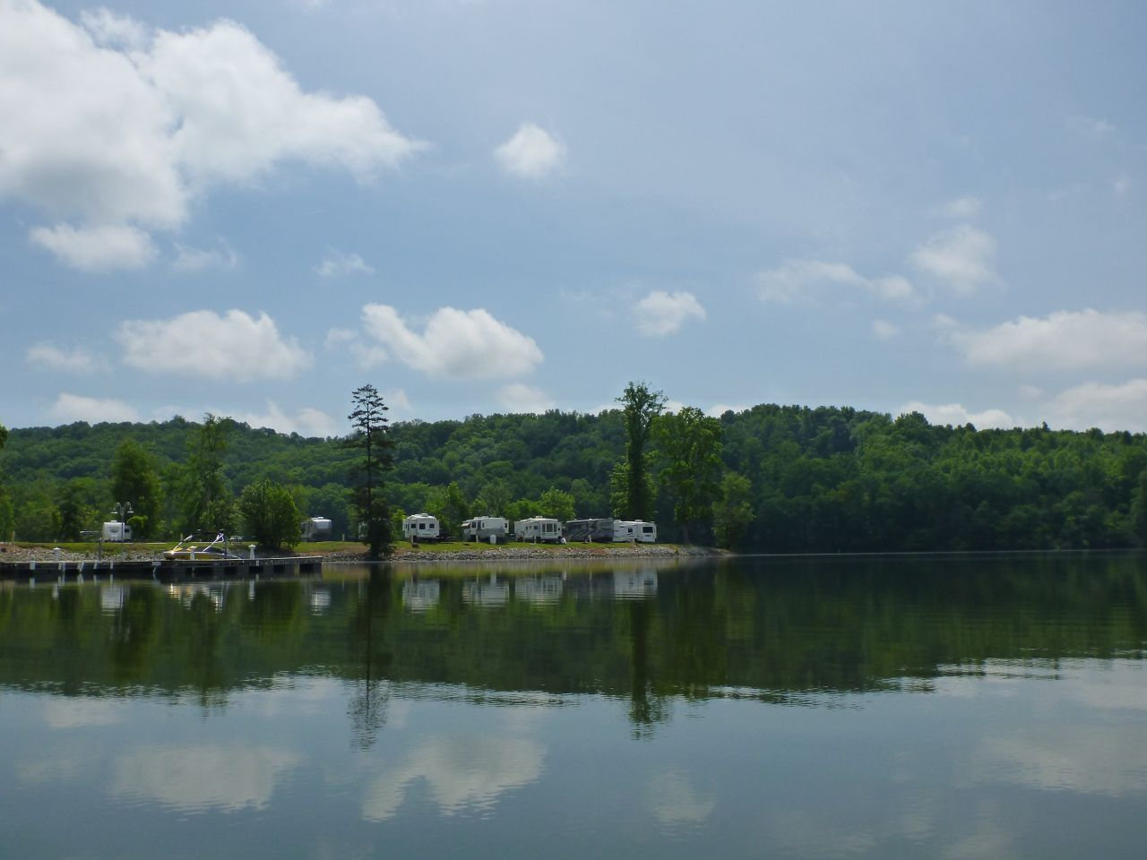 The RV Park From The Kayakers Perspective